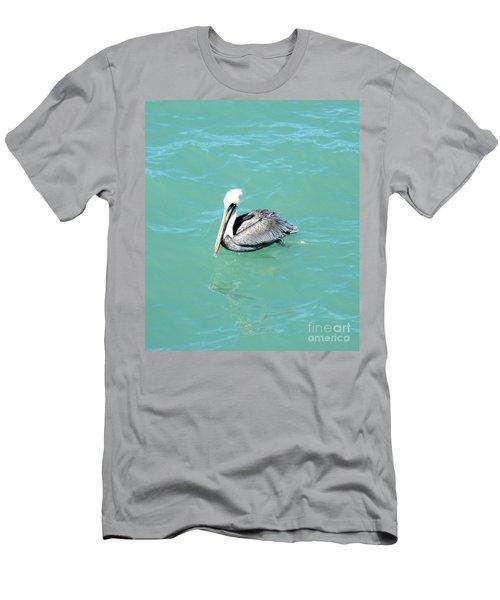Pelican Men's T-Shirt (Slim Fit) by Oksana Semenchenko