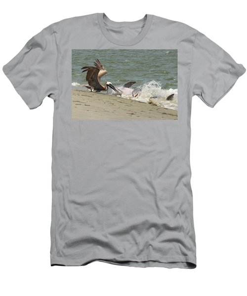 Pelican Steals The Fish Men's T-Shirt (Athletic Fit)