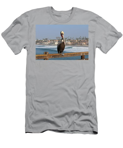 Perched On The Pier Men's T-Shirt (Athletic Fit)