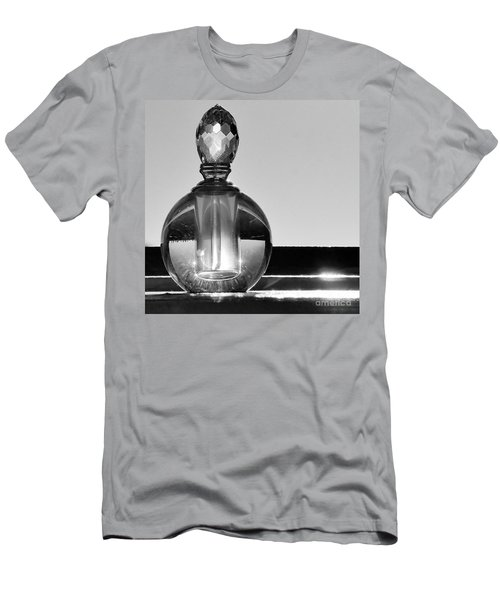 Men's T-Shirt (Slim Fit) featuring the photograph Perfume Bottle Inversion by Lilliana Mendez