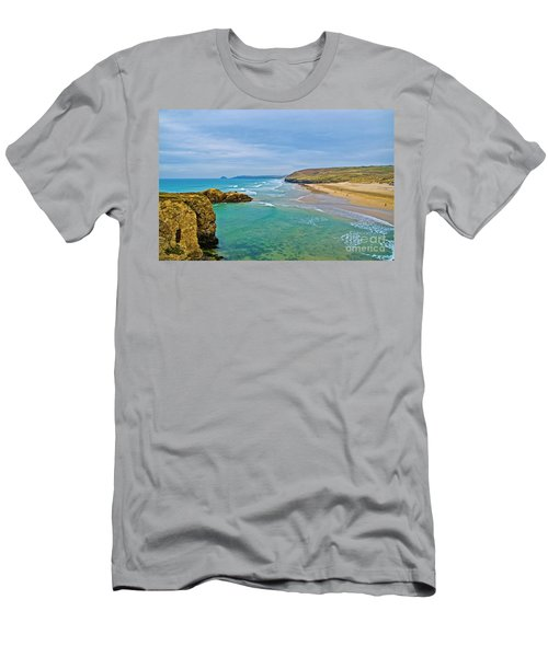 Perranporth Beach Men's T-Shirt (Athletic Fit)