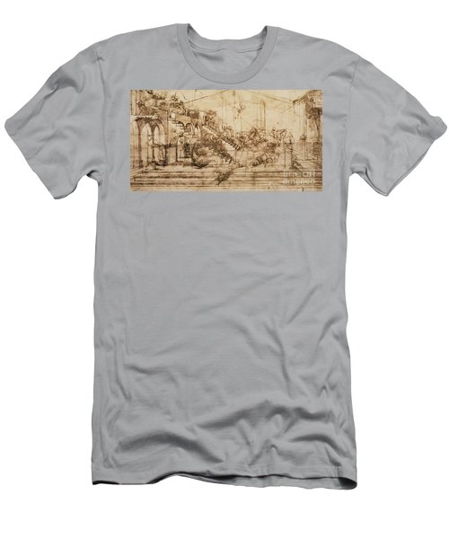 Perspective Study For The Background Of The Adoration Of The Magi Men's T-Shirt (Athletic Fit)