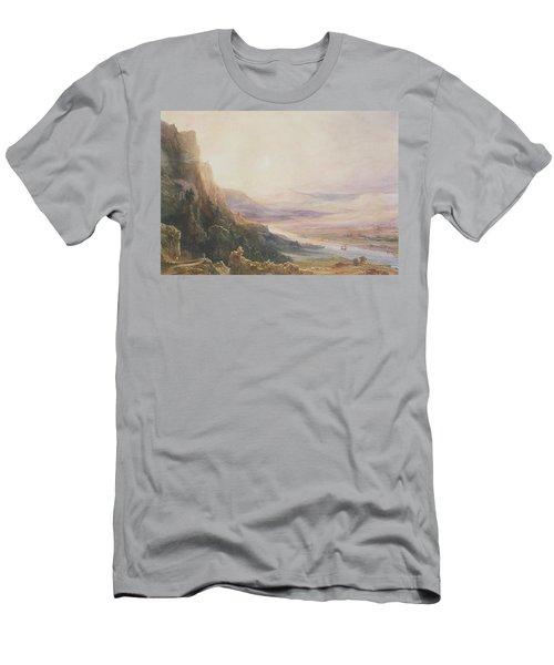 Perth Landscape, 1850 Wc On Paper Men's T-Shirt (Athletic Fit)