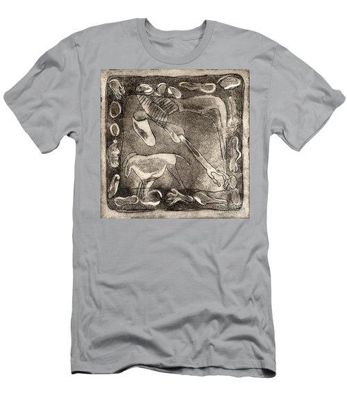 Petroglyph - Horse Takhi And Stones - Prehistoric Art - Cave Art - Rock Art - Cave Painters Men's T-Shirt (Athletic Fit)