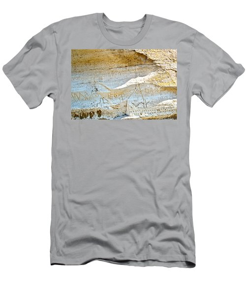 Petroglyphs At Petroglyph Point In Lava Beds Nmon-ca Men's T-Shirt (Athletic Fit)