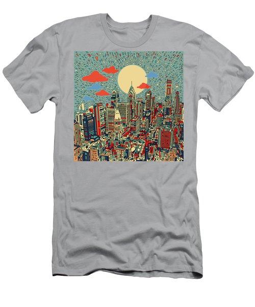 Philadelphia Dream 2 Men's T-Shirt (Slim Fit) by Bekim Art
