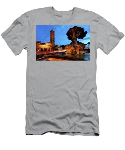 Piazza Della Bocca Della Verita' Men's T-Shirt (Athletic Fit)