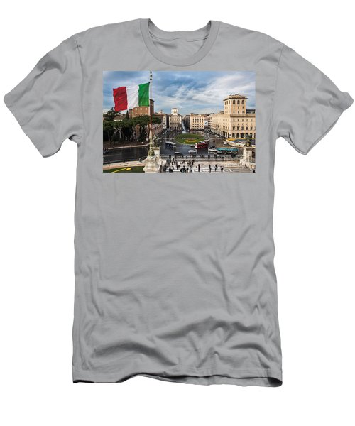 Men's T-Shirt (Athletic Fit) featuring the photograph Piazza Venezia by John Wadleigh