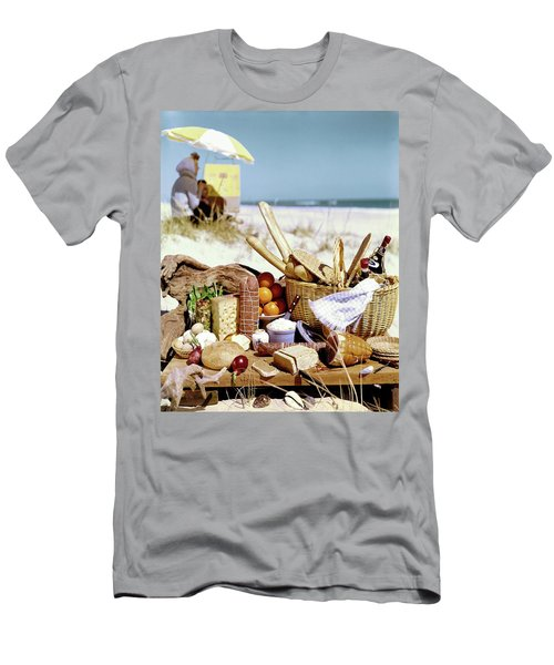 Picnic Display On The Beach Men's T-Shirt (Athletic Fit)