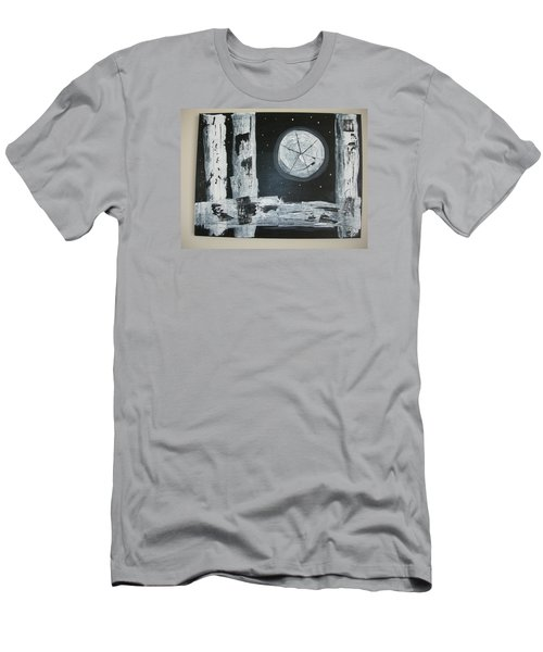 Men's T-Shirt (Slim Fit) featuring the painting Pie In The Sky by Sharyn Winters