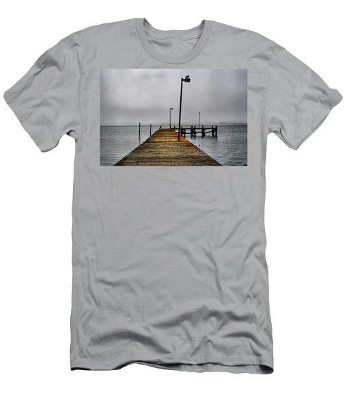 Pier Into The Fog Men's T-Shirt (Athletic Fit)