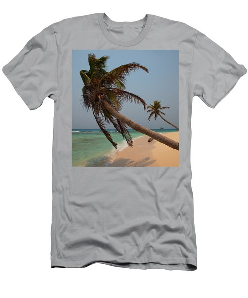 Pigeon Cays Palm Trees Men's T-Shirt (Slim Fit) by Susan Rovira