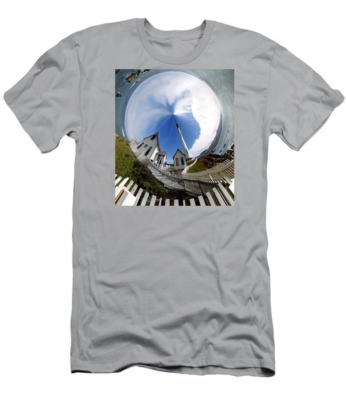 Pigeon Point Lighthouse Polar View Men's T-Shirt (Athletic Fit)