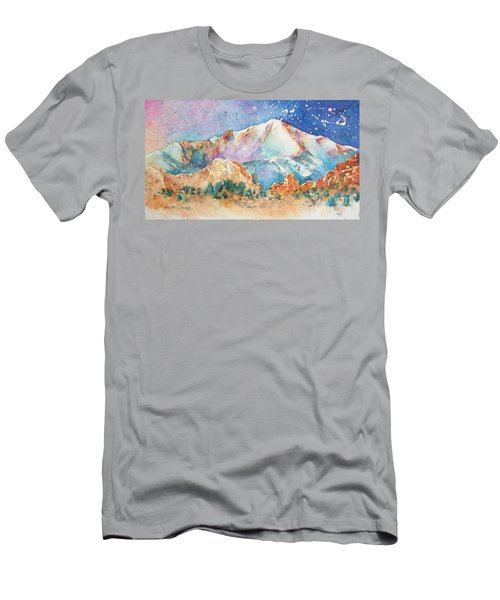 Pikes Peak Over The Garden Of The Gods Men's T-Shirt (Athletic Fit)