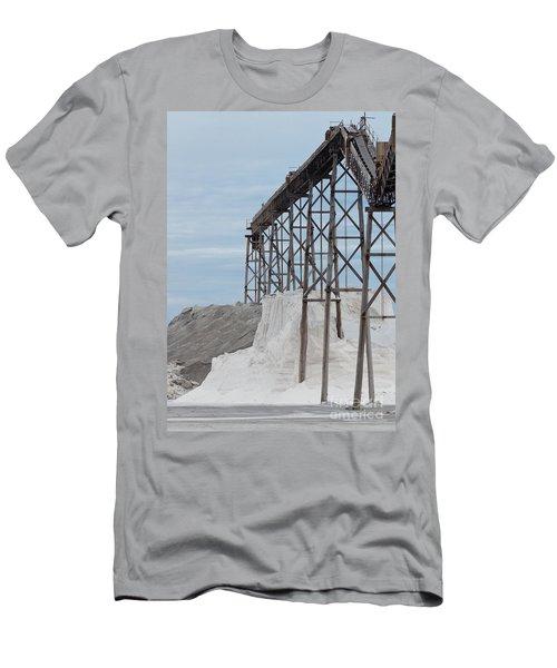 Pile Of Sea Salt Under Conveyor Of Saline Refinery Men's T-Shirt (Athletic Fit)