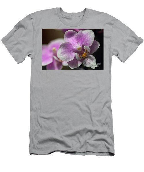 Pink And White Orchid Men's T-Shirt (Athletic Fit)
