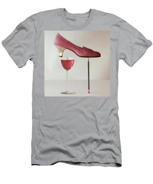 Pink Capezio Pump Men's T-Shirt (Athletic Fit)