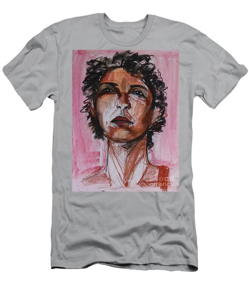 Men's T-Shirt (Athletic Fit) featuring the drawing Pink  by Gabrielle Wilson-Sealy