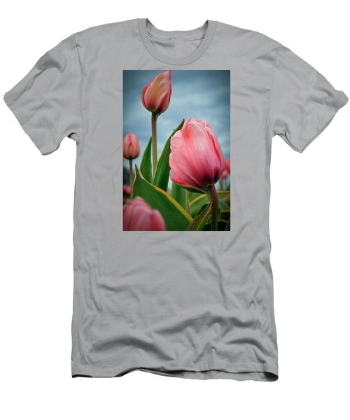 Men's T-Shirt (Slim Fit) featuring the photograph Pink Passion by Athena Mckinzie