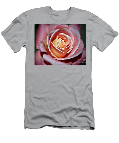 Men's T-Shirt (Slim Fit) featuring the photograph Pink Rose by Savannah Gibbs