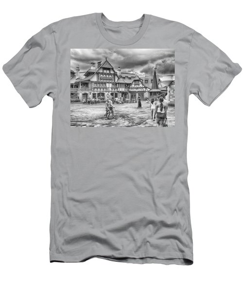 Men's T-Shirt (Slim Fit) featuring the photograph Pinocchio's Village Haus by Howard Salmon