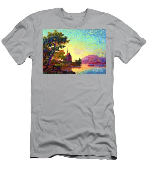 Men's T-Shirt (Slim Fit) featuring the painting Beautiful Church, Place Of Welcome by Jane Small