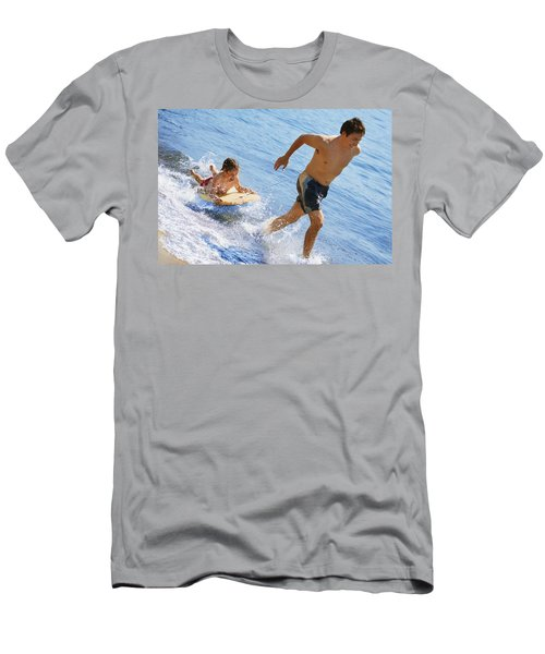 Playing In Water Men's T-Shirt (Athletic Fit)