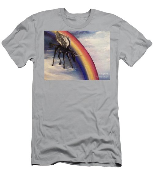 Playing With Rainbow Men's T-Shirt (Athletic Fit)