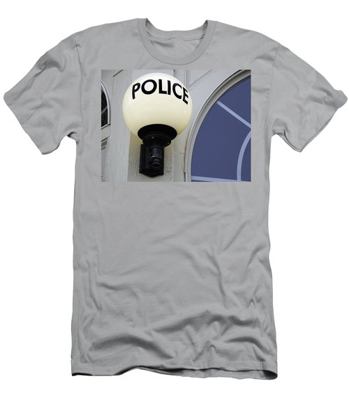 Police Station Men's T-Shirt (Slim Fit) by Phil Cardamone