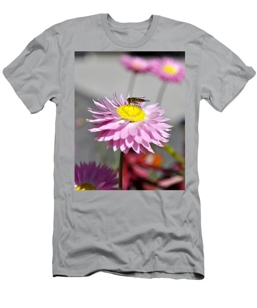 Men's T-Shirt (Slim Fit) featuring the photograph Pollination by Cathy Mahnke