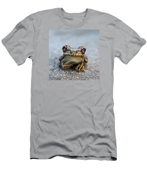 Pondering Frog Men's T-Shirt (Slim Fit) by Laura Fasulo