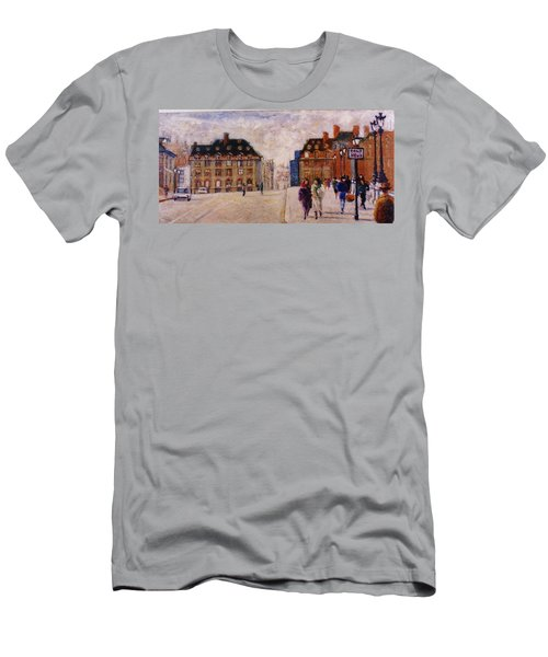 Men's T-Shirt (Slim Fit) featuring the painting Pont Neuf by Walter Casaravilla