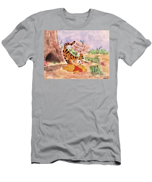 Pooh Bear Got Bounced Men's T-Shirt (Athletic Fit)
