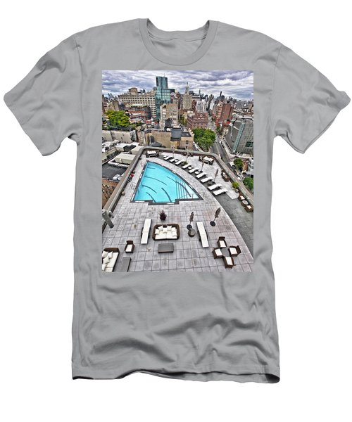 Pool With A View Men's T-Shirt (Athletic Fit)