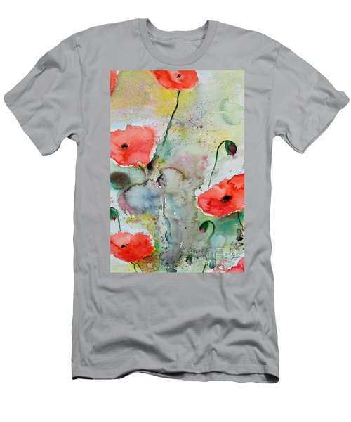 Poppies - Flower Painting Men's T-Shirt (Athletic Fit)