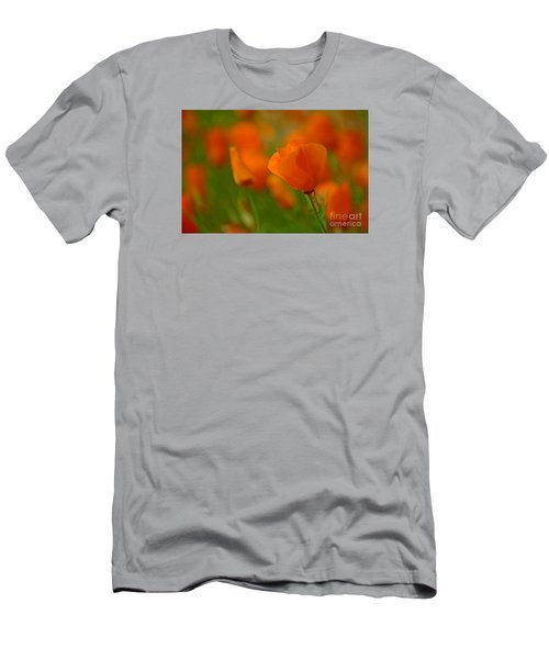 Men's T-Shirt (Slim Fit) featuring the photograph Poppy Art by Nick  Boren