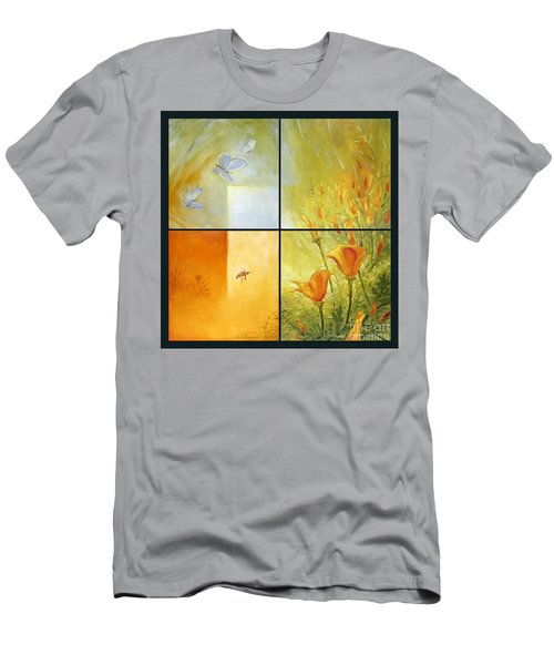 Poppy Pollination Men's T-Shirt (Slim Fit)