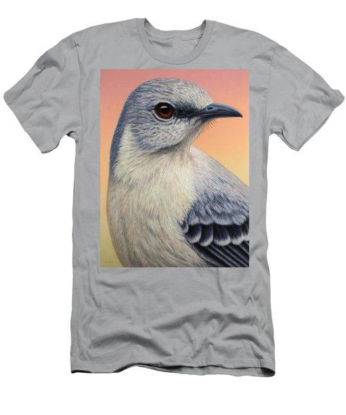 Portrait Of A Mockingbird Men's T-Shirt (Slim Fit) by James W Johnson