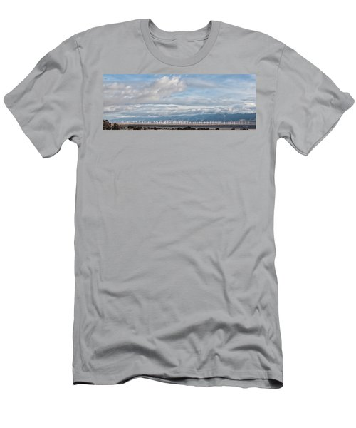 Power From The Wind In Western Skies Men's T-Shirt (Slim Fit) by Michael Flood