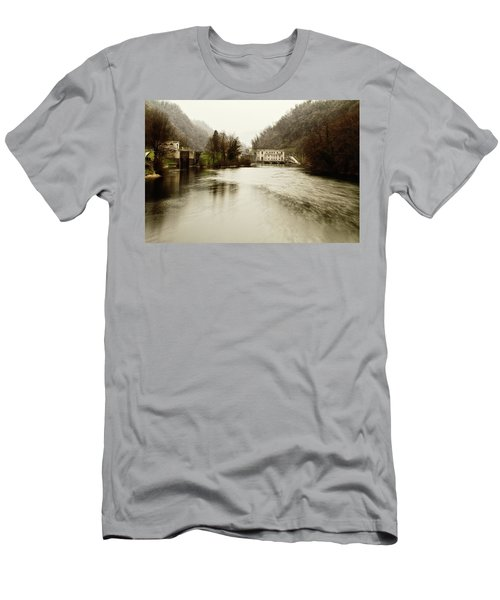 Power Plant On River Men's T-Shirt (Athletic Fit)