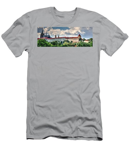 Men's T-Shirt (Slim Fit) featuring the photograph Prague Castle by Joe  Ng