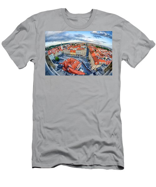 Prague From Above Men's T-Shirt (Athletic Fit)
