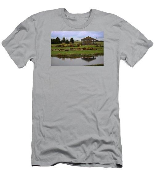 Men's T-Shirt (Slim Fit) featuring the photograph Prairie Arboretum  by Rebecca Davis
