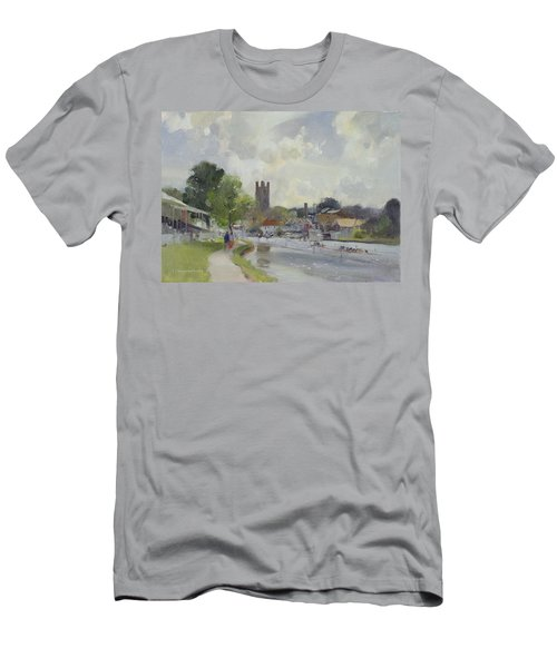 Preparing For The Henley Regatta, 1994 Oil On Canvas Men's T-Shirt (Athletic Fit)