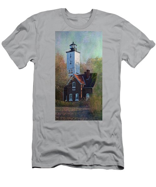 Presque Isle Lighthouse Men's T-Shirt (Athletic Fit)