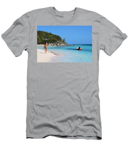 Private Beach Bahamas Men's T-Shirt (Athletic Fit)