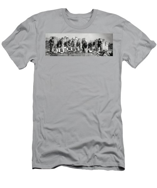 Prohibition Feds Destroy Liquor  1923 Men's T-Shirt (Athletic Fit)