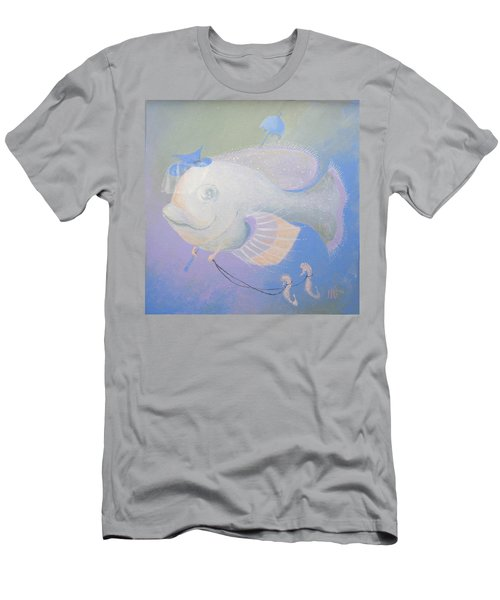 Men's T-Shirt (Slim Fit) featuring the painting Promenade by Marina Gnetetsky