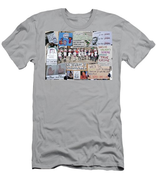Protest Signs Men's T-Shirt (Athletic Fit)
