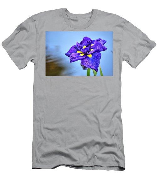 Purple Pond Iris Men's T-Shirt (Athletic Fit)